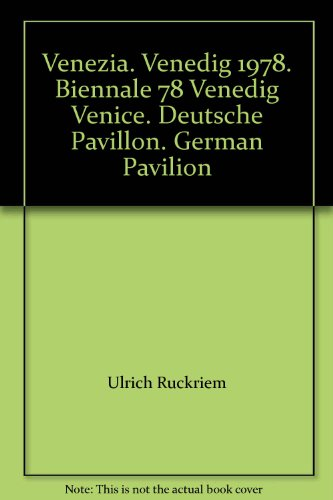 Venezia. Venedig 1978. Biennale 78 Venedig Venice. Deutsche Pavillon. German Pavilion. Two Volume Set