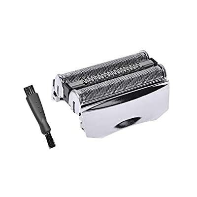 70s Shaver Replacement Foil & Cutter for Braun Shaver Replacement Part, Series 7 Replacement Foil Compatible with Braun 70s 70B Cassette,with Free Clean Brush (Silver)