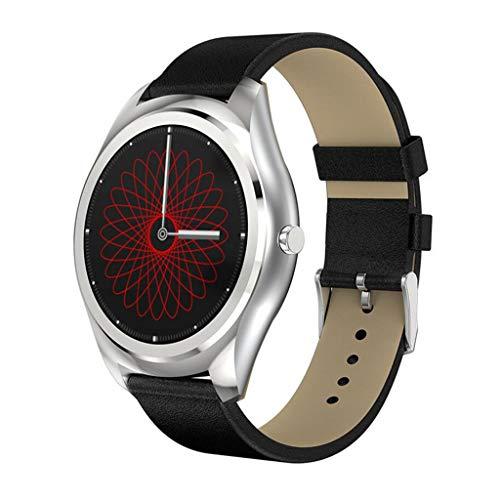 QAR N3PRO Smartwatch magnetische opladen hartslagmeter slaap sesshechtend rond beeldscherm Multi-Dial reserveband met stap-smartwatch
