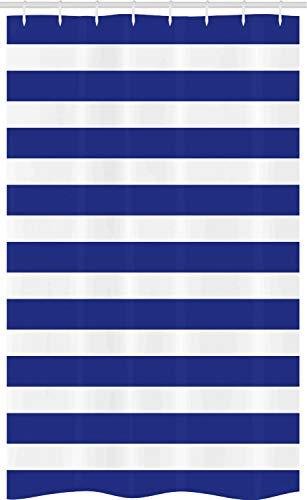 ABAKUHAUS A Rayas Cortina para baño, Armada náutico Marina, Tela con Estampa Digital Apta Lavadora Incluye Ganchos, 120 x 180 cm, Púrpura