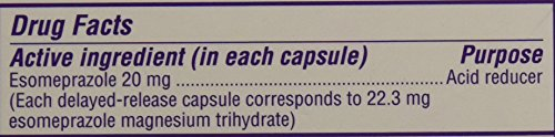 Nexium 24 Hr Acid Reducer 20 Mg 42 Capsules In 3 Pack,, 42Count ()