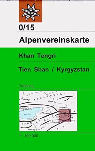 Khan Tengri, Tien Shan / Kyrgyzstan: Trekkingkarte 1:100.000 (Alpenvereinskarten)