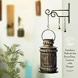 SADHUBELA Iron Jaisalmeri Mehrab Art Burni Diya Lantern (Gold_7 Inch X 7 Inch X 12.2 Inch) hookah bowl Apr, 2021