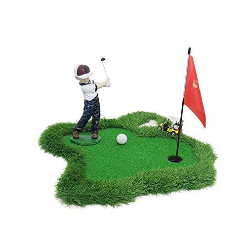 Desktop Decoration Golf Scale Putter golfgroene putting Mats Gras oefenmat slagblok Launch Pad vakman oefeningen naar de achtertuin binnen