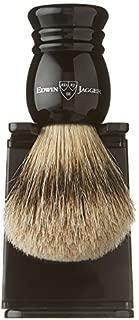 Edwin Jagger Super Badger Shaving Brush with Drip Stand - Medium, Imitation Ebony by Edwin Jagger