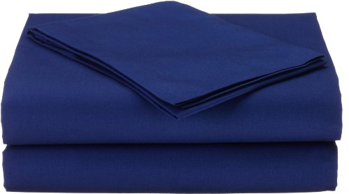 American Baby Company 100% Natural Cotton Percale Toddler Bedding Sheet Set, Royal, 3 Piece, Soft Breathable, for Boys