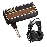 VOX AP2AC amPlug 2 AC30 Guitar Headphone Amplifier with Over-Ear Headphones Bundle (2 Items)