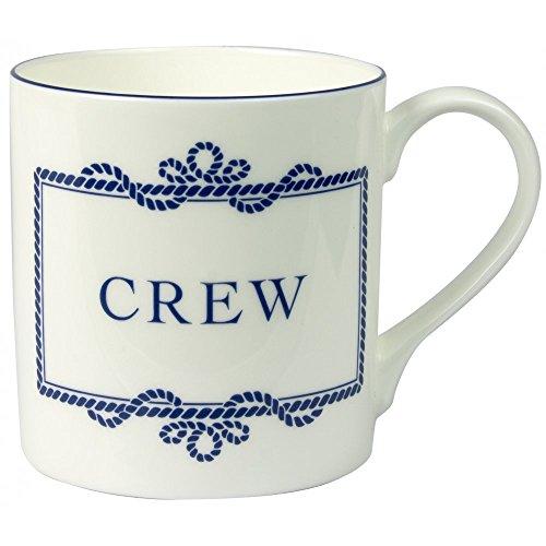 Tasse, chinesisches Porzellan, Handbemalt in England: Aufschrift Crew