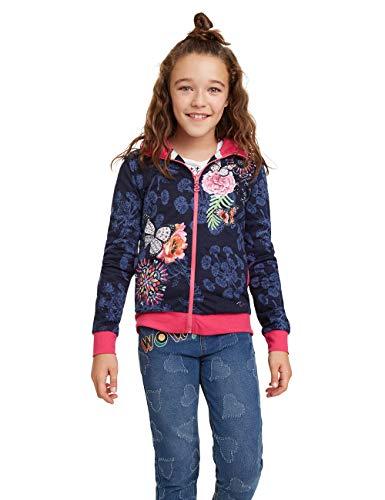 Desigual Mädchen Kansas Sweatshirt, Blau (Navy 5000), 164 (Herstellergröße: 13/14)