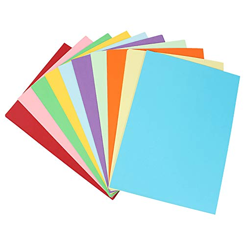 MEIFXIH A4 Assorted Colored Origami Paper 10 Colors,50 Sheets 180 GSM Handmade Folding Paper Craft Origami for Office School Home Supplies