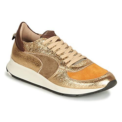 Philippe Model Montecarlo Sneaker Damen Gold/Kaki/Gelb/Senf - 36 - Sneaker Low Shoes