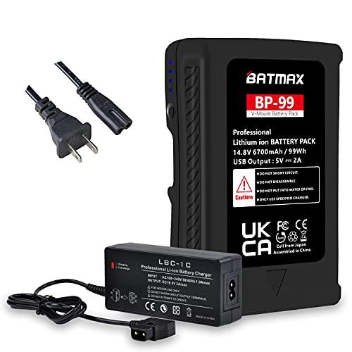 Batmax 99Wh V Mount V-Lock Battery +...