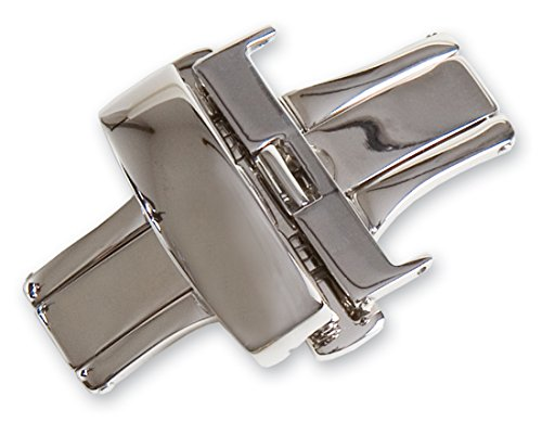 18mm Chrome Single Fold Deployment Buckle