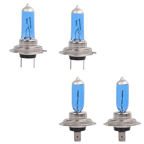 Mintice™ 4 X Véhicule de voiture Lumineux H7 55W 6000K Xénon Gaz Halogène Ampoules de lampe de projecteur blanc
