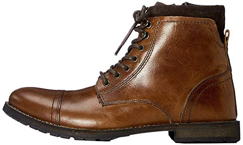 find. Max Herren Zip Worker Biker Boots, Brown (Casual Tan), 44 EU