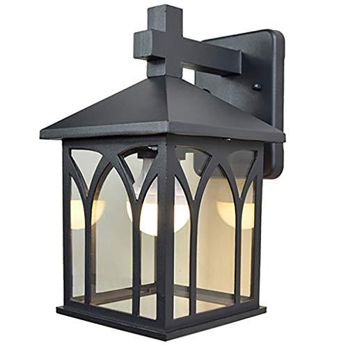 HLD Antieke Aisle LED Buiten Wandlamp Waterproof Modern Outdoor Balkon Trap Courtyard Licht van de Muur Muurlampen (Color : Black, Size : A(5W))