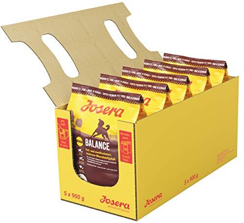 JOSERA Balance (5 x 900 g) | fett- und eiweißreduziertes Hundefutter für Senioren | glutenfrei | Super Premium Trockenfutter für ältere Hunde | 5er Pack
