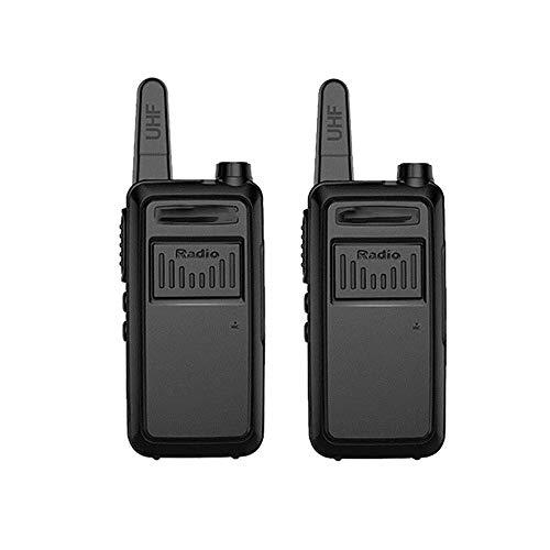 Z-Color 8W Alta Potencia de walkie talkies de Larga Distancia de Carga USB de 16 Canales de Walkie-Talkie, Emisión de Sonido/difusión de la Voz (2 Piezas, Negro)