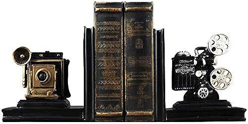 QARYYQ Kreative Filmprojektor Buchstütze Buch durch das Büro Schreibtisch Schreibtisch Bücherregal Dekoration Ornamente 16x12x20,5 cm Bücherstand
