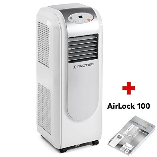 TROTEC mobiles Klimagert Klimaanlage PAC 2000 E mit 2,1 kW / 7.200 Btu, EEK A Inkl. Fensterabdichtung Airlock 100