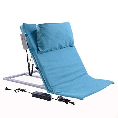 KuiGu Respaldo de la Cama, Respaldo eléctrico, Ajustable, recostado, reclinable con reposacabezas extraíble para ortopédicos, Cuello, Cabeza, Soporte Lumbar, cuña de Cama,Blue
