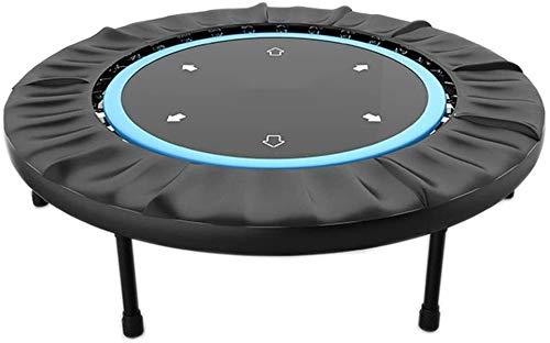 Suge Plegable Mini trampolín, Fitness Rebounder Trampolín Adulto Cubierta Pérdida de Peso Trampolín Trampolín Trampolín Gimnasio en casa Artículos Deportivos (Color : Blue, Size : 100 * 100 * 26cm)