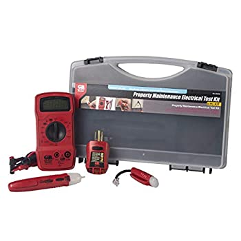 Gardner Bender TK-5HCN Home Electrical / Electrician Tester Kit Includes Digital MultiMeter  GDT-311  Non-Contact Voltage Tester  GVD-3504  GFCI Outlet Tester  GFI-3504  Dual Phone Line Tester  GTT-3200  & Replacement Test Leads  RTL-103  4 Pc Kit Red & Black