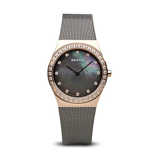 BERING Damen-Armbanduhr Analog Quarz Edelstahl 12430-369