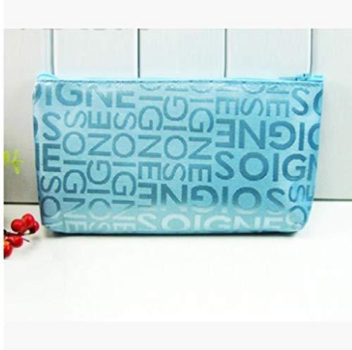 JIAN&K Kosmetiktasche Kleinbuchstaben-Kosmetiktasche Weibliche Kosmetiktasche Wesentliche Aufbewahrungstasche Werbegeschenke, Blau