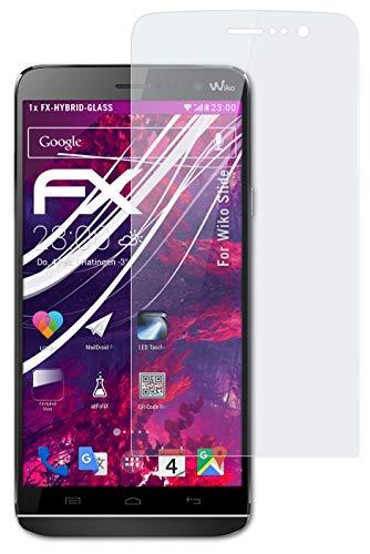 atFolix Glasfolie kompatibel mit Wiko Slide Panzerfolie, 9H Hybrid-Glass FX Schutzpanzer Folie