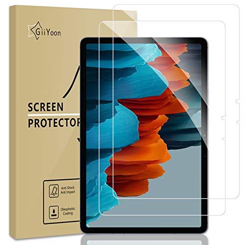 GiiYoon-2 Piezas Protector Pantalla para Samsung Galaxy Tab S7 11 Pulgadas 2020 (SM-T870/T875) Cristal Templado,[Sin Burbujas] [Alta Definicion] [9H Dureza] Vidrio Templado