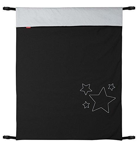 ByBoom - Manta Softshell de bebé 70x100cm para primavera, verano y otoño - Termoactiva para carro, sillita de paseo, runners, Color:Negro/Gris