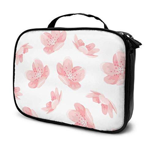 Rose Cheery Blossom Sakura Fleur Voyage Garçons Voyage Trousse De Toilette Maquillage Sacs Femmes Robuste Trousse De Toilette Multifonction Imprimé Poche pour Les Femmes