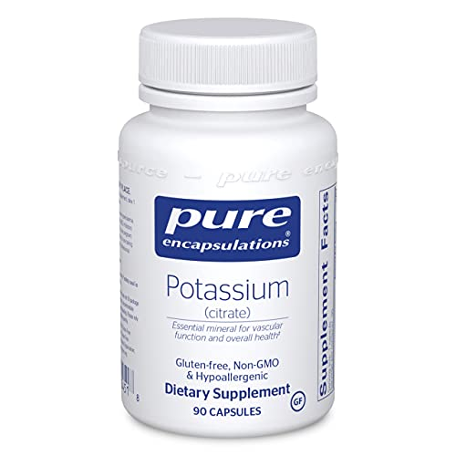 Pure Encapsulations Potassium (Citrate)   Essential Electrolyte Supplement to Support Nerve and Muscle Function, Adrenals, Hormones, Heart Health, and Energy*   90 Capsules