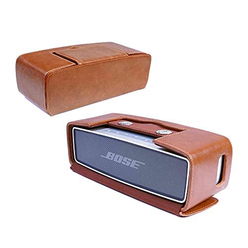 Tuff-Luv J16_13 Weinlese-Echtes Leder Travel Case Für Bose Soundlink Mini - Braun