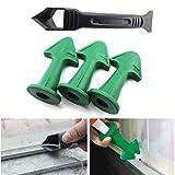 Kit de herramientas de calafateo de silicona, juego de removedor de sellador de 4 piezas con...