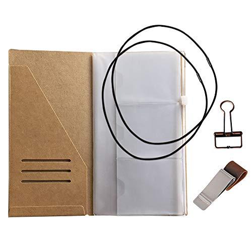 Reisende Notebook Zubehör Kit - Kraft Datei Ordner, Reißverschluss Fall, Stift Halter, Binder Clip und 2 elastische Bänder
