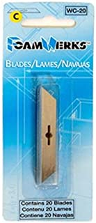 Logan Graphics FoamWerks Replacement Blades C 20 Pk-Fits the Straight Cutter, Straight/Bevel Cutter, Rabbet Cutter, and V-Groove Cutter