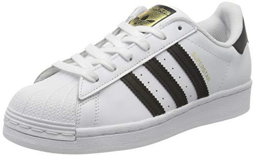adidas Superstar J, Scarpe da Ginnastica Unisex-Bambini, Ftwr White/Core Black/Ftwr White, 38 EU
