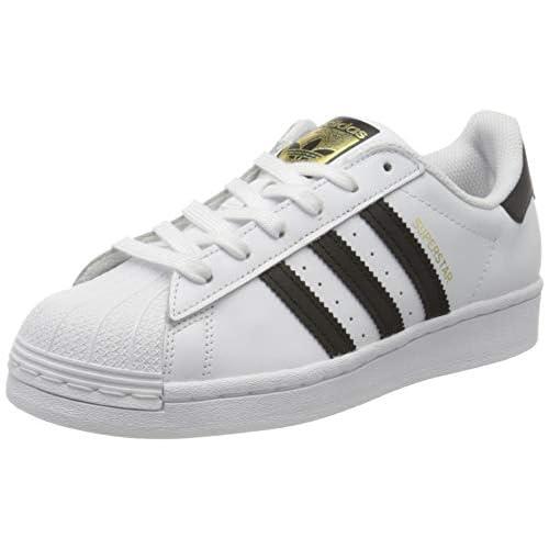 adidas Superstar J, Scarpe da Ginnastica Unisex-Bambini, Ftwr White/Core Black/Ftwr White, 38 2/3 EU