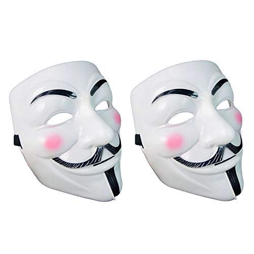 Halloween Masks, Compatible with V for Vendetta Mask Costume Party Mask for Carnivals Masquerades Festival, 2Pcs