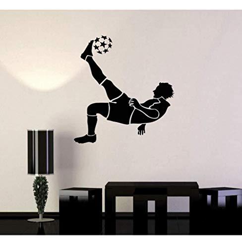 Wandtattoos Stattliche Figur Fußball Sticker Sport Technik Vinyl Decals Schlafzimmer Home Dekorative Kunst Wandbild 56 X 56 CM
