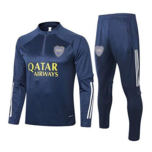 Camiseta Del Club Europeo Entrenamiento de fútbol Traje Club de jóvenes adultos de manga larga con capucha de la chaqueta transpirable jogging Plus traje de pantalones LQ00128 A00201 ( Size : Large )