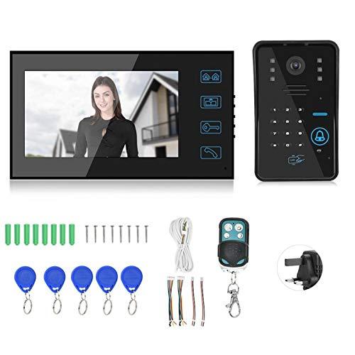 Videoportero con cable Videoportero Timbre Intercomunicador Videoportero Sistema de control de puerta 10(British regulatory)