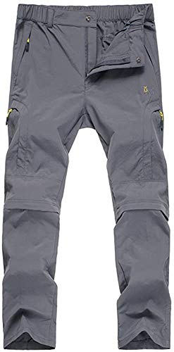 Allfunny Men's Outdoor Cargo Pants Windproof Waterproof Softshell Trousers,