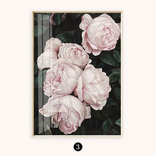 Geiqianjiumai canvas schilderij kunst schilderij schilderij schilderij roze witte roze linnen wonen decor woonkamer muur poster
