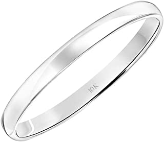 Women's 10K Rose, White, or Yellow Gold Wedding Band Classic Plain Simple 2MM by Brilliant Expressions