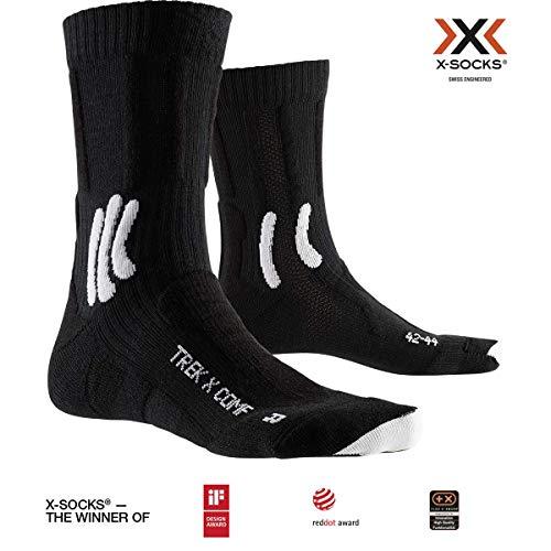 X-Socks Socks Trek X Comfort, Opal Black/Arctic White, 42-44, XS-TS06S19U-B002-42/44