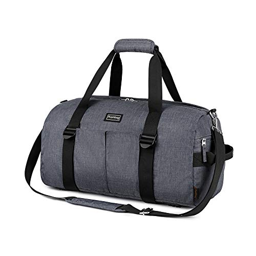 Plambag Borsone Palestra Uomo Donna Borsa Palestra Impermeabile Borsone da Viaggio con Scomparto Scarpe Travel Duffel per Yoga Mat