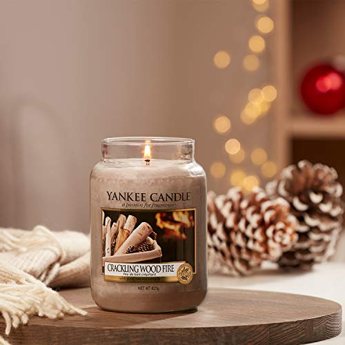 YANKEE CANDLE Giara Profumata Crackling Wood Fire Grande, Multicolore, Unica